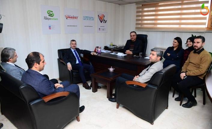 Başkan Çınar'dan Vuslat TV'nin Yeni Yönetimine Ziyaret