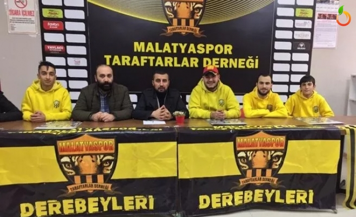 Malatyaspor Taraftarlar Derneği'nden 'takımımızın yanındayız'mesajı