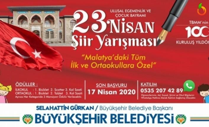 Malatya Büyükşehir Belediyesi 23 Nisan Şiir Yarışması Sonuçlandı