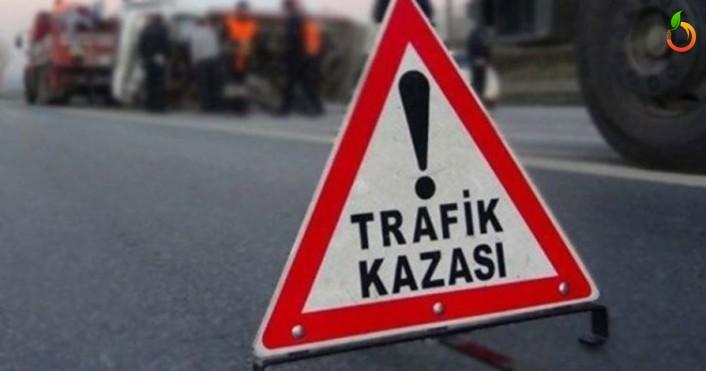 Orduzu Pınarbaşı yolunda otomobil şarampole uçtu