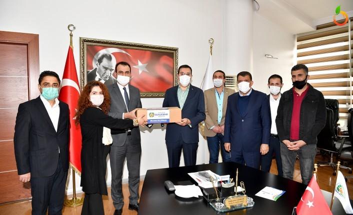 Berberler ve Kuaförler Esnaf Odasından Başkan Gürkan'a teşekkür ziyareti