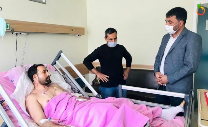 Başkan Samanlı'dan Tren Kazasında Yaralananlara Ziyaret