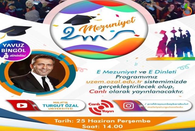 MTÜ e-mezuniyet töreninde Yavuz Bingöl e-konseri