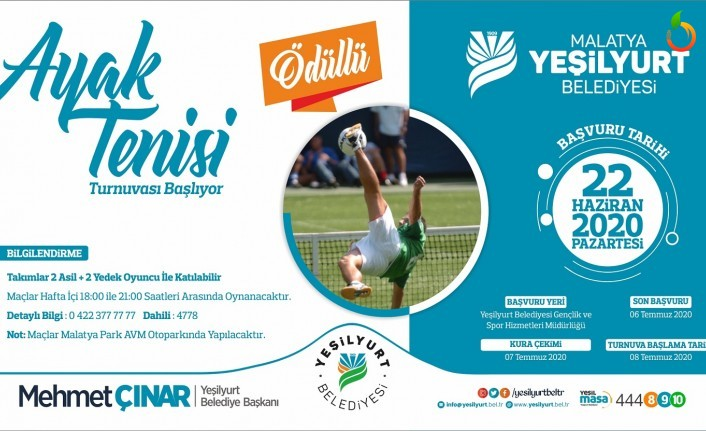 Yeşilyurt Belediyesi, Ayak Tenisi Turnuvasıyla Sporseverlerle Buluşacak