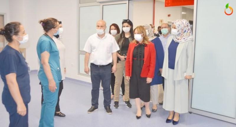 Aysun Bay Karabulut, Malatya Eğitim ve Araştırma Hastanesi'ni ziyaret etti