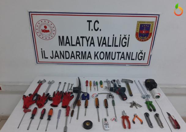 Malatya İl Jandarma Komutanlığı 11 hırsızlık olayı aydınlattı