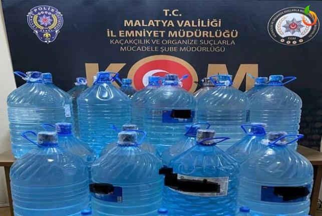 447 litre el yapımı sahte içki ele geçirildi