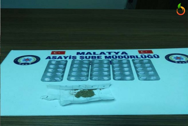 Malatya'da Xanax isimli uyuşturucu madde ele geçirildi