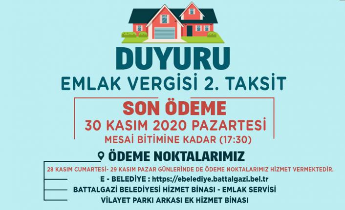 Battalgazi Belediyesi'nden Vergi Uyarısı