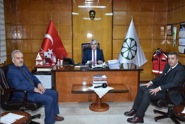 Başkan Özcan'dan Şeker Fabrikası Müdürü Suat Altun'a ziyaret
