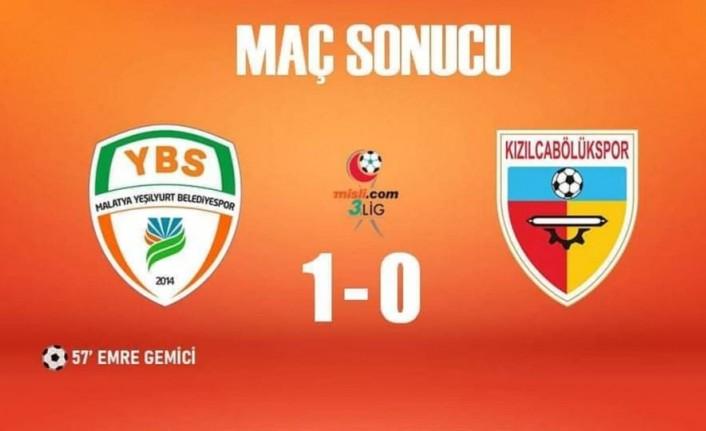 Maç Sonucu: Yeşilyurt Belediyespor-Kızılcabölükspor 1-0