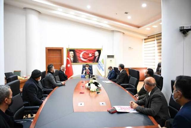 Şire Pazarı Yönetimi ile Başkan Gürkan Bir Araya Geldi