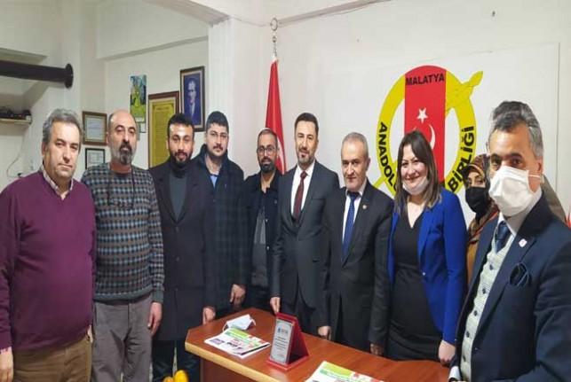 DEVA Partisi Battalgazi İlçe Başkanlığından Anadolu Basın Birliğine Ziyaret
