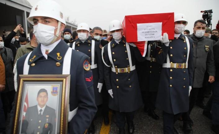 Malatyalı Şehit Mehmet Çelik, Son Yolculuğuna Uğurlandı