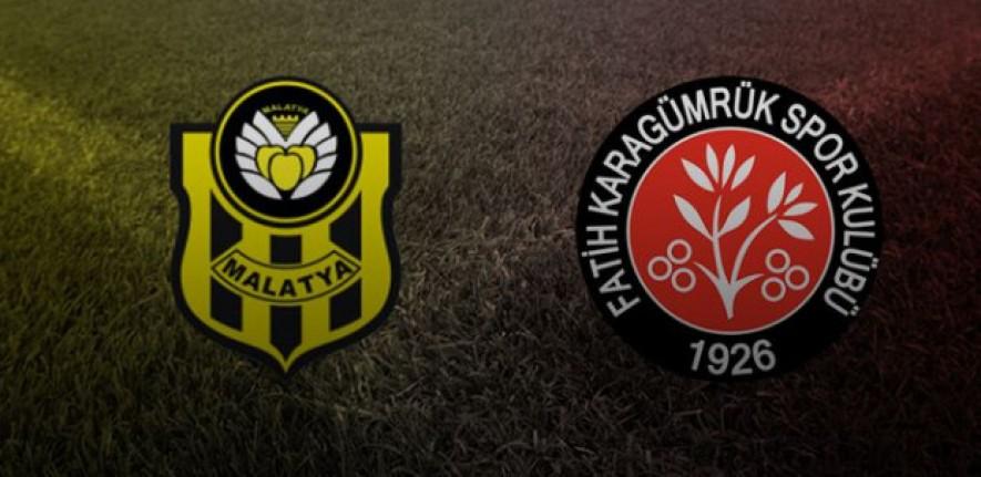 Y.Malatyaspor -Fatih Karagümrük maç sonucu