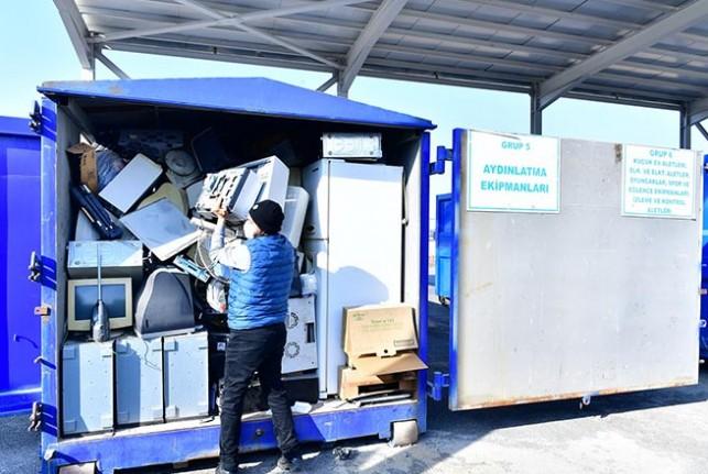3.244 Kg. Atık Elektrik ve Elektronik Eşya Toplandı