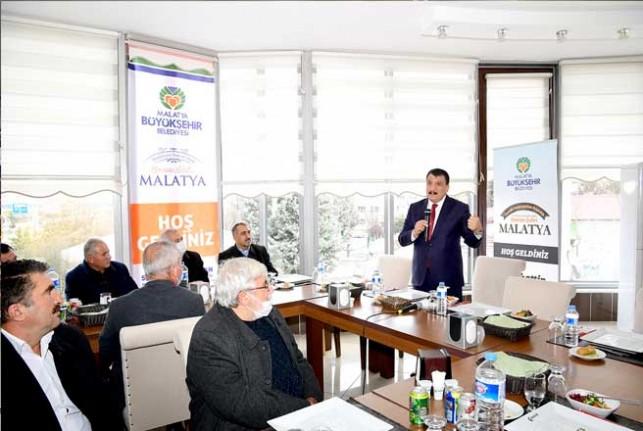 Başkan Gürkan Muhtarlarla Bir Araya Geldi