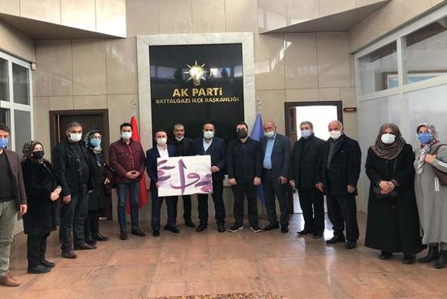 Akçadağ Dayanışma Derneği'nden  Başkan Kahveci'ye Ziyaret