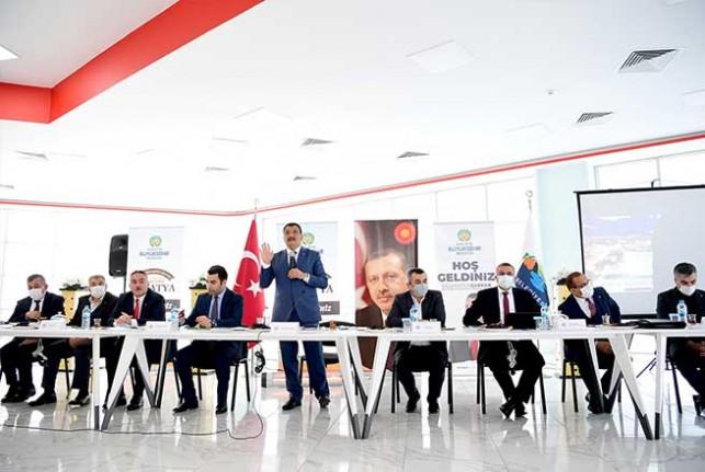 Başkan Gürkan Kale İlçe Yönetimi Ve Muhtarlarla Bir Araya Geldi