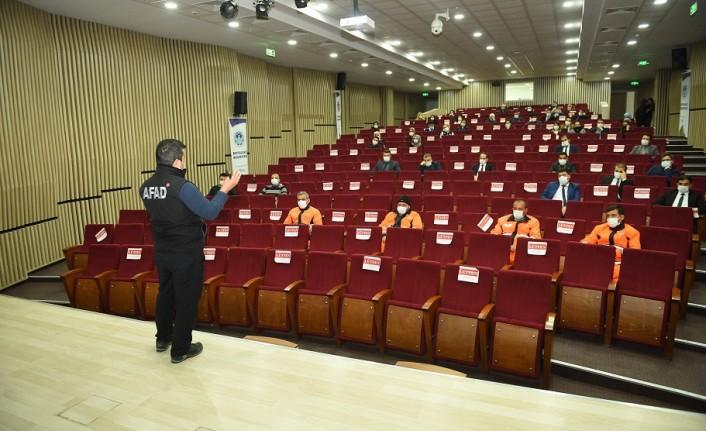 Battalgazi Belediyesi Personeline Afet Eğitimi Verildi