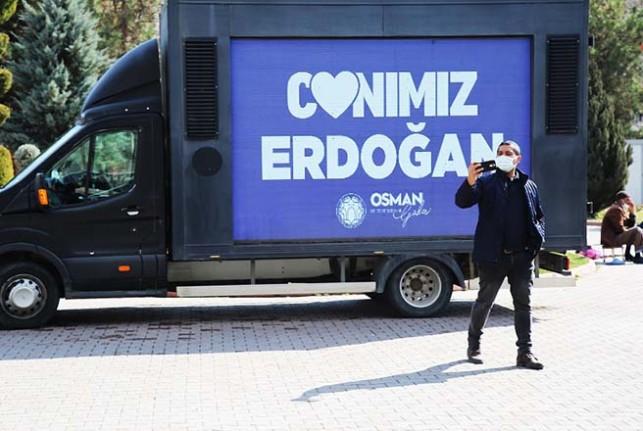 """Battalgazi'de """"Canımız Erdoğan"""" Görseli Büyük İlgi Gördü"""