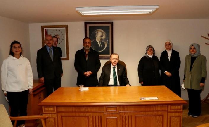 Cumhurbaşkanı Erdoğan, Malatyalı şehidinin ailesiyle bir araya geldi
