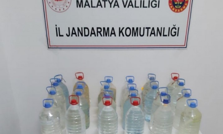 Malatya'da kaçak içki operasyonu