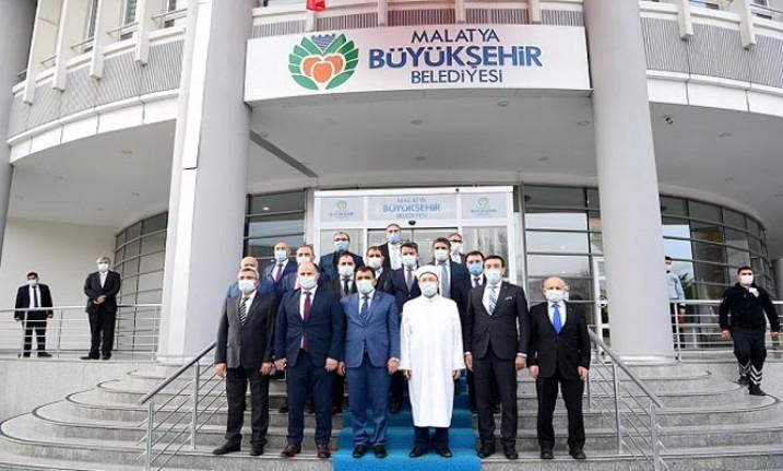 Diyanet İşleri Başkanı Ali Erbaş'tan Başkan Gürkan'a Ziyaret