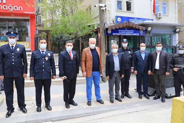 Görev Başındaki Polislere Başkan Güder'den  Sürpriz Ziyaret
