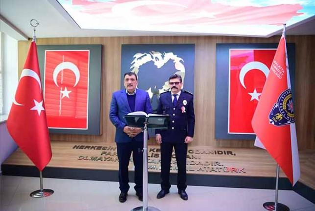 Gürkan'dan  İl Emniyet Müdürü Dağdeviren'i Polis Haftası Ziyareti