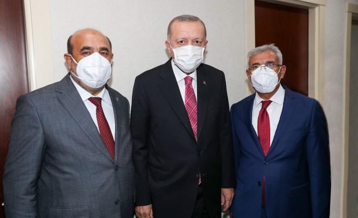 Başkan Güder, Cumhurbaşkanı Erdoğan İle Bir Araya Geldi