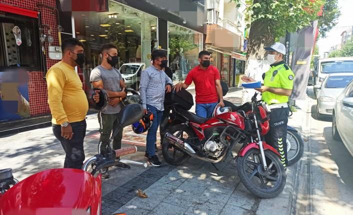 Motosikletli kuryeler bilgilendirildi