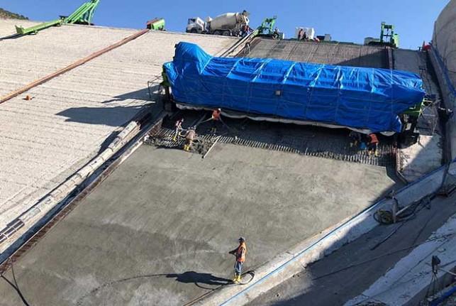 Malatya Yoncalı Barajında ön yüz beton imalatı başladı