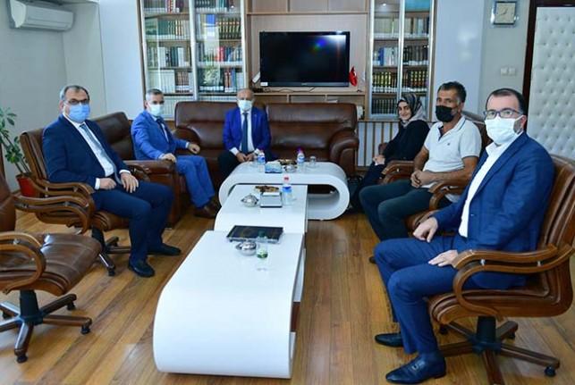 Başkan Çınar, İl Müftüsü Işıldar İle İlçe Müftüsü Ayral'ı Ziyaret Etti