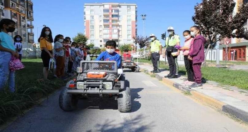Battalgazi trafik parkta minik öğrencilere eğitim verildi