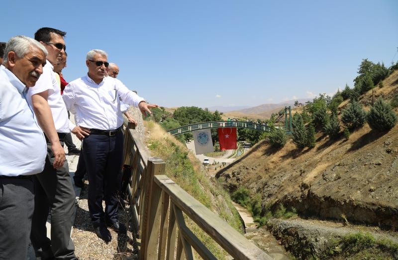 Battalgazi Belediye Başkanı Güder, İspendere İçmeleri'nde İncelemelerde Bulundu