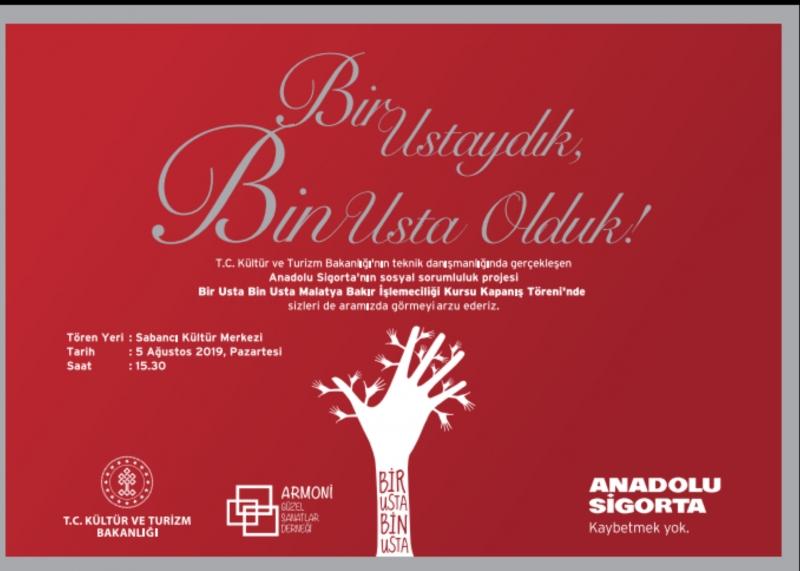 """'Bir Usta Bin Usta""""  Sosyal Sorumluluk Projesi'"""