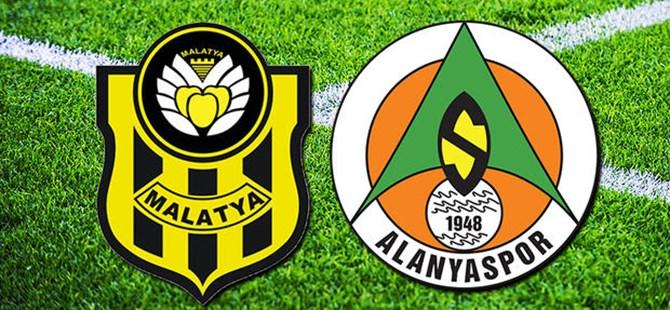 Maç Sonucu:Y.Malatyaspor 1-1 Alanyaspor