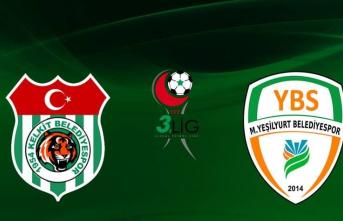 Malatya Yeşilyurt Belediyespor, Deplasmanda 1-0 Mağlup Oldu