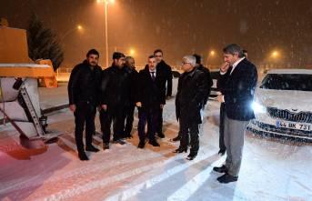 Başkan Çınar, Kar Çalışmalarını İnceledi