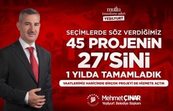 Başkan Çınar, 27 Projeyi 1 Yıl İçinde Hayata Geçti