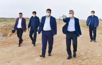 Başkan Çınar, Kuzey Çevre Yolu Güzergahında İncelemelerde Bulundu