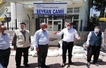 Ağbaba'dan Seyran Camisine bağış