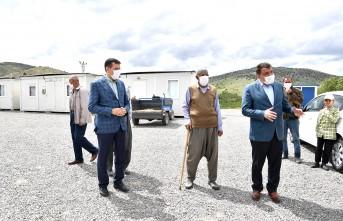 Başkan Gürkan. Bulutlu Mahallesinde Depremzedeleri Ziyaret Etti
