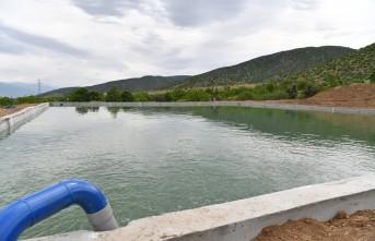 Taşmış'a Kapalı Sistem Sulama Kanalı İnşa Edildi