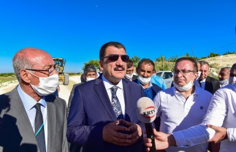 Başkan Gürkan yol genişletme çalışmalarını inceledi