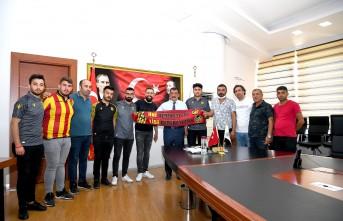 Derebeyleri'nden Başkan Gürkan'a Ziyaret