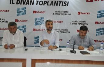 Saadet Partisi Temmuz ayı İl Divan Toplantısı Yapıldı