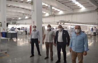Başkan Sadıkoğlu: 'Fabrikalarda tedbirler alınarak üretim devam ediyor'