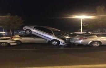 Malatya'da 6 Araç Birbirine Girdi